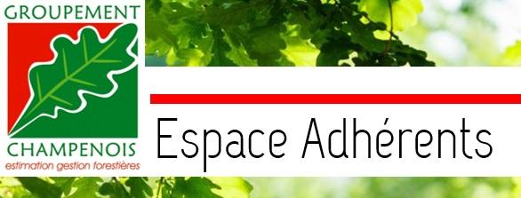 Espace adherents